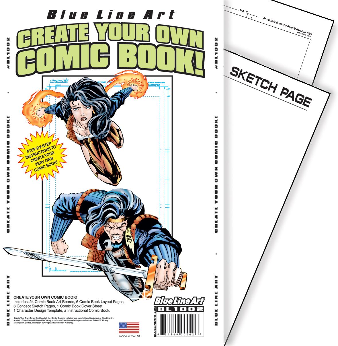 Canson comic strip card