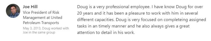 customer review about doug