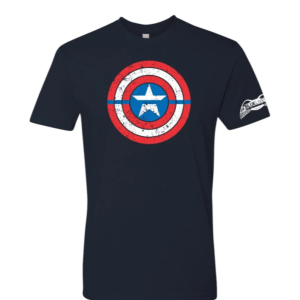 Captain America Blue Line T-Shirt