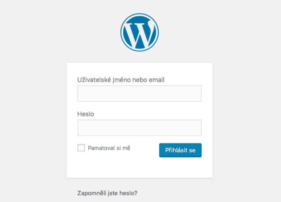 přihlášení kwordpressu