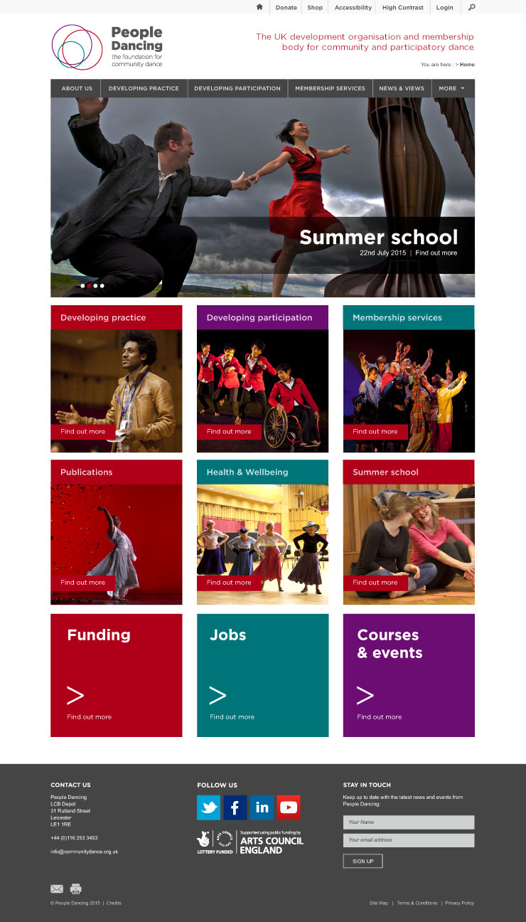 People Dancing website