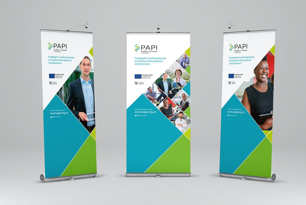 PAPI banner stands