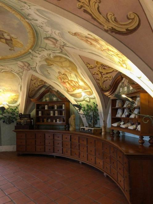 In the past pharmacy stores looked nice