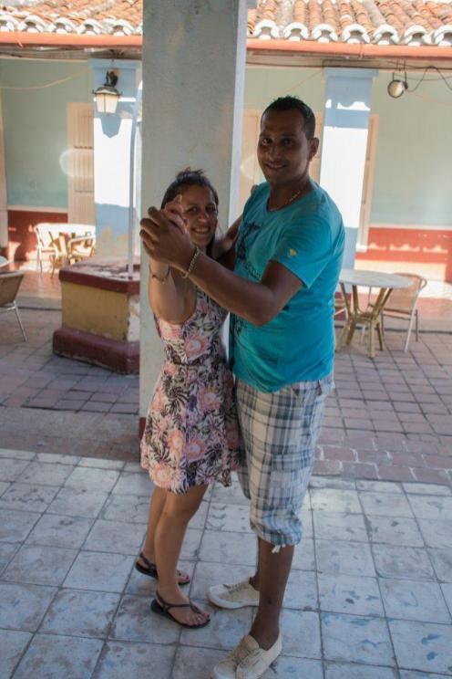 With our salsa teacher