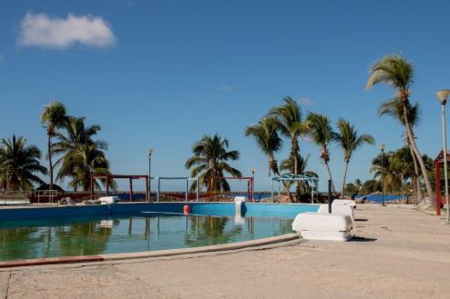 Green-ish pool in the resort