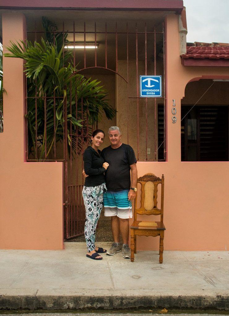 Owners of the casa particular