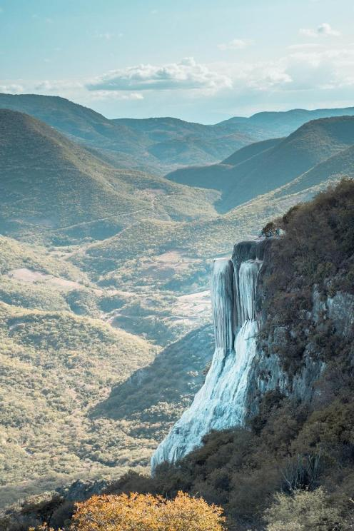 Frozen Waterfall in Hierve al Agua (what to do in Oaxaca suggestion)