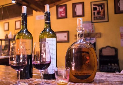Degustacije vin v Argentin - tri vina v vinarni v San Juanu