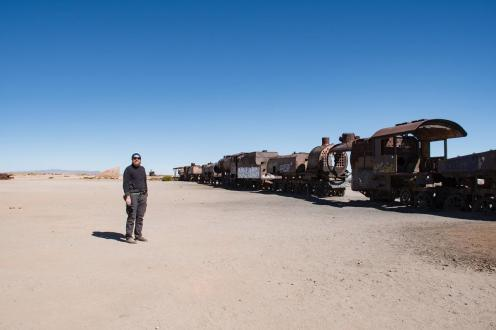 Potepuški nasveti za Salar de Uyuni - pokopališče lokomotiv pri uyuni