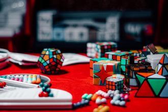 Božična darila - mini rubikove kocke (Božični sejem v Baslu)