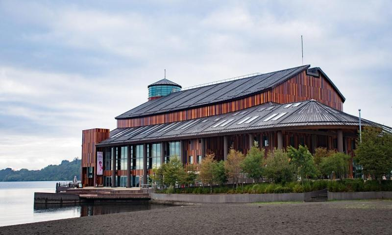 Theater on the lake in Frutillar - cover photo for Unique towns in Patagonia