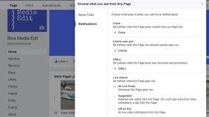 Facebook Notification Settings