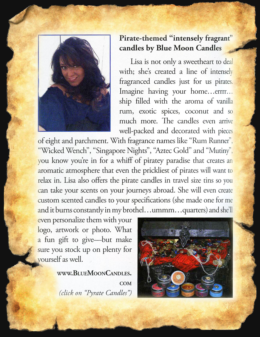 Pieces of Eight Pirate Candles by Blue Moon Candles.