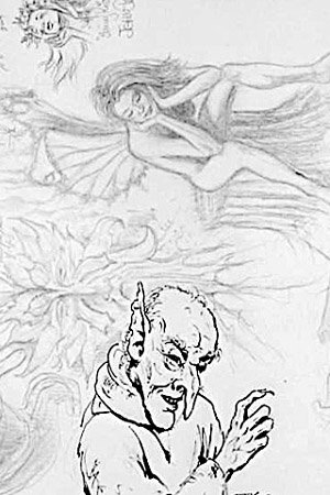 A wizened Gnome and thoughtful sprite.