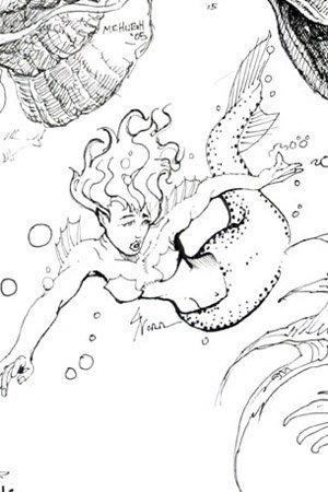 A panicked mermaid.