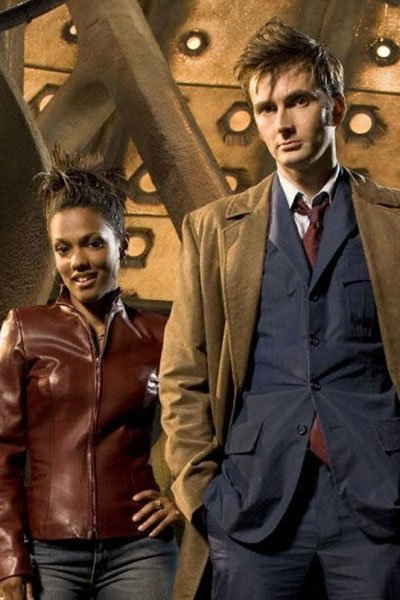 Freema Agyeman as Martha Jones and David Tennant as the 10th Doctor.