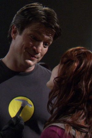 Nathan Fillion as Captain Hammer and Felicia Day as Penny.