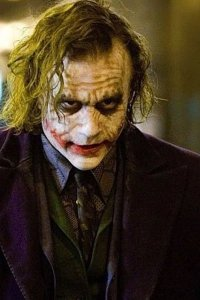 Heath Ledger as The Joker.