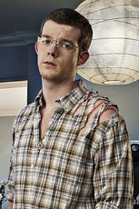 Russell Tovey as George the reluctant werewolf from Being Human.