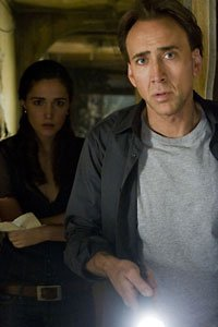 Nicolas Cage as Joh Koestler and Rose Byrne as Diana Wayland.