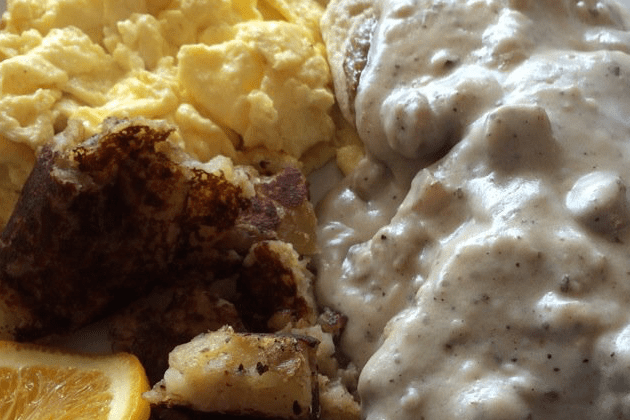 Biscuits and Gravy - Blue Moon Grill Wakefield via Yelp by Sam L.