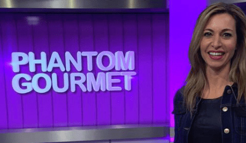 Nancy in the Phantom Gourmet Studio