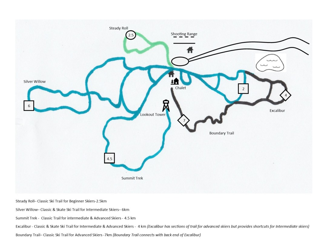 Classic and Skate Ski Trails Map