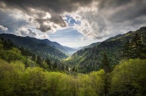 Great Smoky Mountains National Park Mortons Overlook Scenic Landscape Gatlinburg