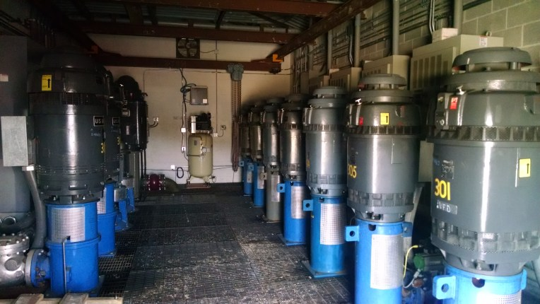 Valley compressors. Energy is used to fill ponds and transfer water for snowmaking.