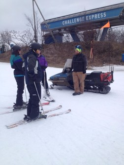 Tyler finds familiar faces on the slopes.