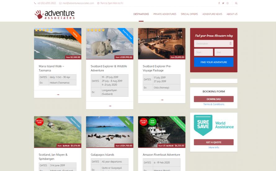 adventureassociates.com – Website by Blue Mountains Web Design