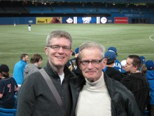 With Dad at a Jays game. Toronto, ON. May 2012