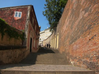 Stairs outside Prague Castle