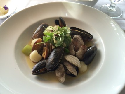 Seafood second course at Sooke Harbour House