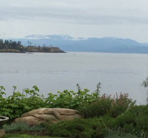 View during dinner at the Sooke Harbour House