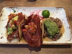 Conchita pibil, carnitas, chicken al pastor at Puesto
