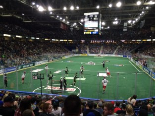 View from my seat at the Rush game