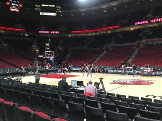 Courtside seats for Trail Blazers warmups