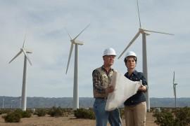 Engineers on wind farm