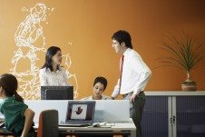 Businesspeople in an office