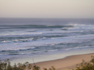Sunshine Beach rights more predominant with the northerly drifting swell.