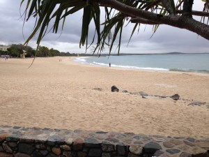 Main Beach Noosa lonely today.