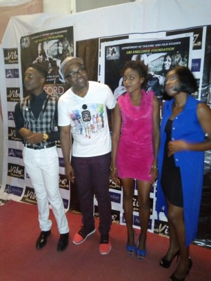 Obi Emelonye with guests