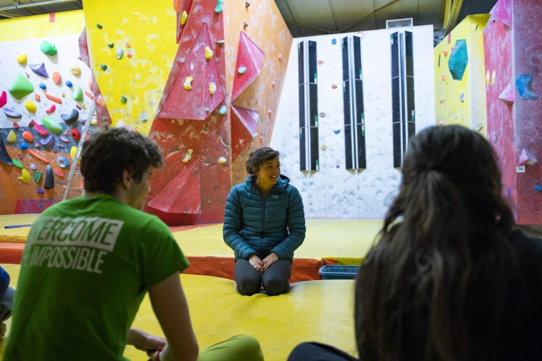 Nina Caprez Climbing workshop