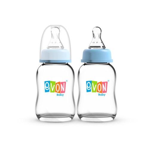 EVON Glass Feeding Bottles 125ml