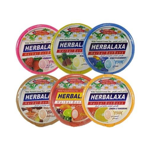 هيربالاكسا أعشاب حب مص بطعم الشاي الأخضر – علبة 20 قرص