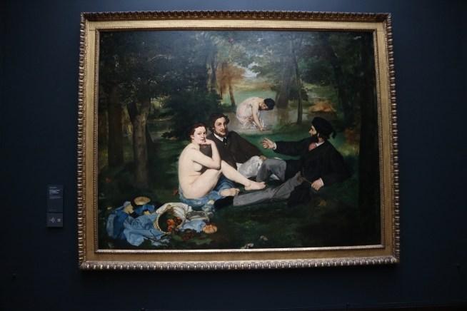 オルセー美術館にあるマネの草上の昼食