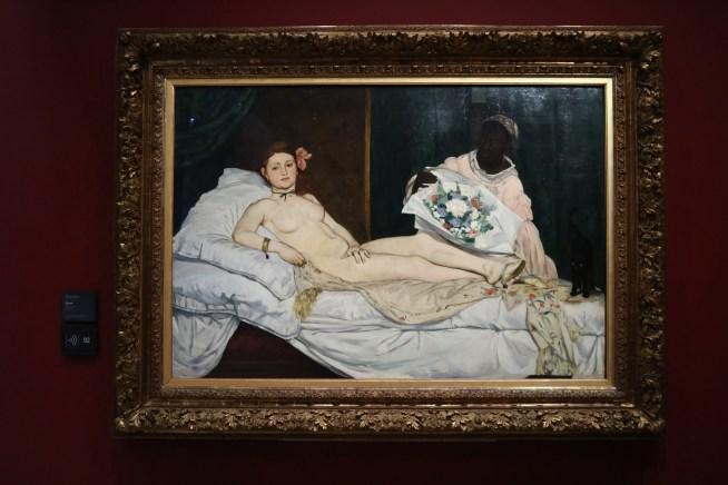 オルセー美術館にあるマネのオランピア