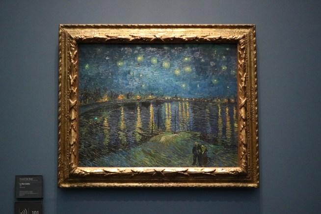 オルセー美術館にあるゴッホのローヌ川の星月夜