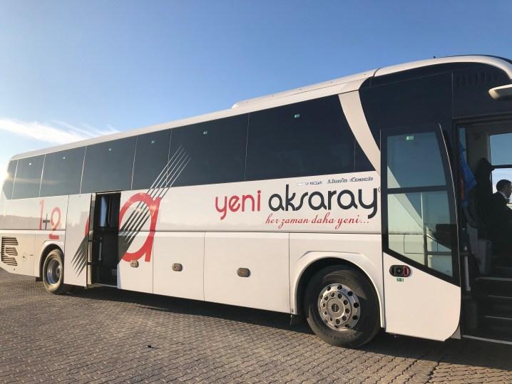 トゥズ湖からアクサライ行きのバス